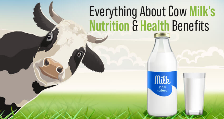Milk Nutrition Facts - Cow Milk Nutritional Value, and Health Benefits