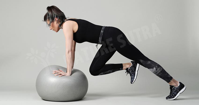 Ball Push-Up Workout By Woman