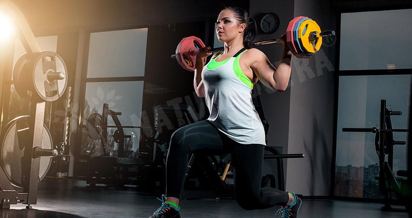 Dumbbell Press Squat Body Transformation Workout Plan For Women