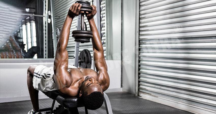 Dumbbell Pullover Lat Exercise