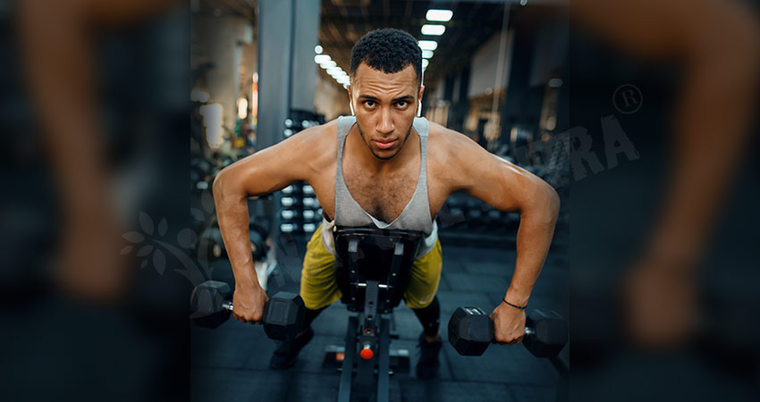 Prone Bent Over Lateral Raise On An Incline Bench