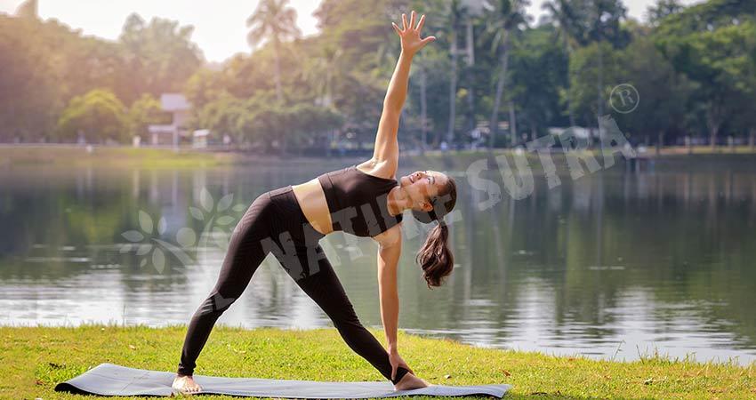 Trikonasana Yoga: The Triangle Pose